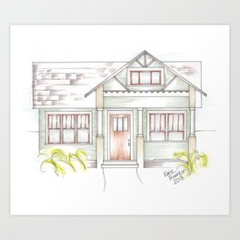 Green Craftsman Art Print