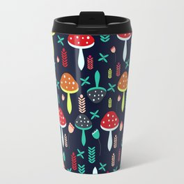 Multicolored mushrooms Travel Mug