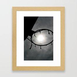 Sunny Hoops Framed Art Print