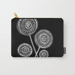 White Flower 21 Carry-All Pouch