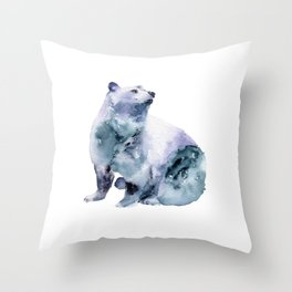 Watercolor Bear Throw Pillow