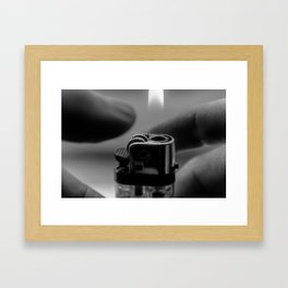 Portrait of a Lighter 1 Framed Art Print
