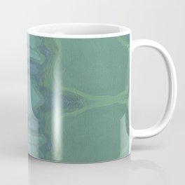 Art Nouveau Green Panel Coffee Mug