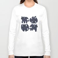 toothless Long Sleeve T-shirts featuring Toothless  by Magen Works
