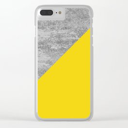 Simply Concrete Mod Yellow Clear iPhone Case
