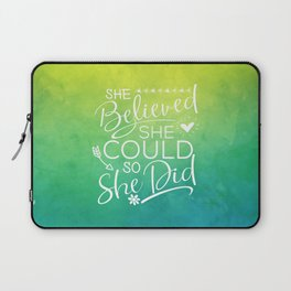 she believed she could II Laptop Sleeve