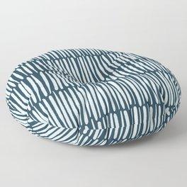 Inspired by Nature | Organic Line Texture Dark Blue Elegant Minimal Simple Floor Pillow