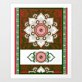 Italy Lover Italian Flag Italian American Gift Flower Art Print