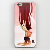 angel wings iPhone & iPod Skins featuring Angel Wings by Kiome-Yasha