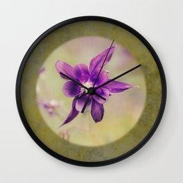 Columbine flower Wall Clock