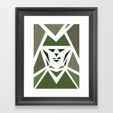 Five Triangle Faces - The Hunter Framed Art Print