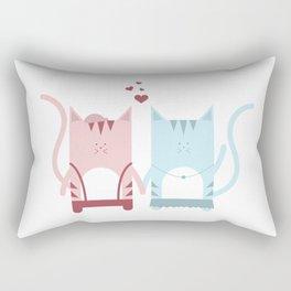 Traveling Tabbies: Bae Edition Rectangular Pillow