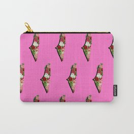 Floral Palestine, Pink Carry-All Pouch