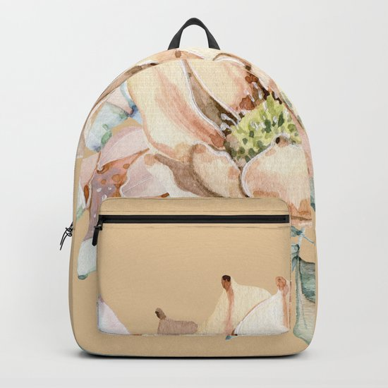 Desert Cactus Flower Apricot Coral Backpack