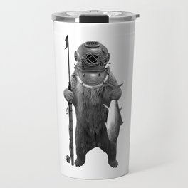 Harpoon Fishing Bear Travel Mug