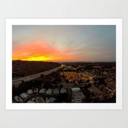 Thousand Oaks at Sunset Art Print