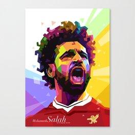Mohamed Salah WPAP #2 Canvas Print