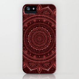Dark rose glow mandala iPhone Case