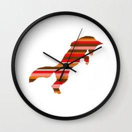 Fox Stripes Wall Clock