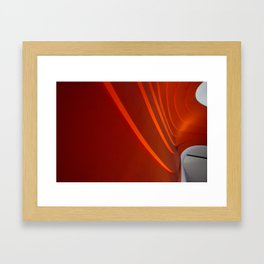 White and Red with lines Framed Art Print