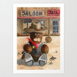 Sheriff Bear Art Print