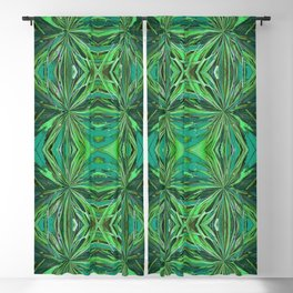 Teal and Green Pattern 808 Blackout Curtain