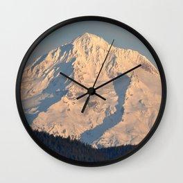 Twilight Over Mount Hood Wall Clock