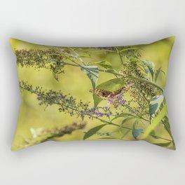 Great Spangled Fritillary on a Butterfly Bush Rectangular Pillow