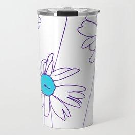 Simple Daisy   Line Drawing Travel Mug