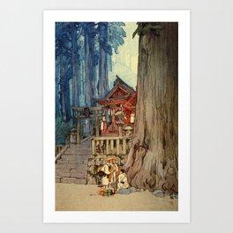 12,000pixel-500dpi - Yoshida Hiroshi - A Misty Day In Nikko - Digital Remastered Edition Art Print