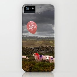 Christmas sheep iPhone Case
