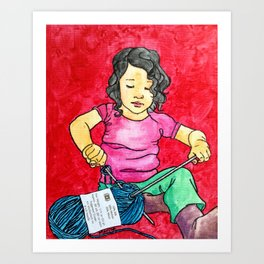 future knitter Art Print