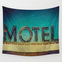 Grunge Motel Sign Wall Tapestry