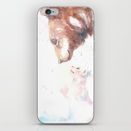 The bear, the cat and the tree of truth iPhone Skin