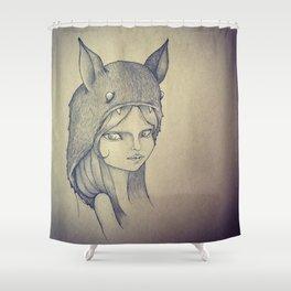 Monster Girl Shower Curtain