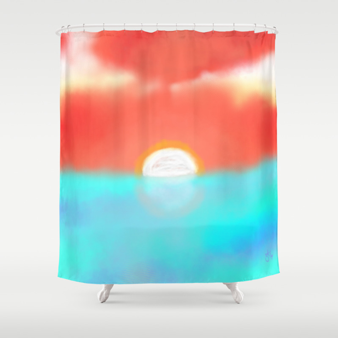 Sunrise Shower Curtains Society6
