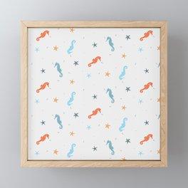 Seahorses and Starfish Framed Mini Art Print