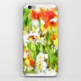 The Colors Of Spring On A Sunny Day Watercolor iPhone Skin