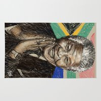 mandela Area & Throw Rugs featuring MANDELA by Stan Kwong