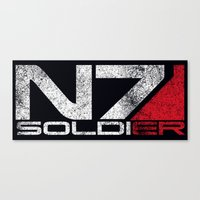 n7 Canvas Prints featuring N7 Solider by Draygin82
