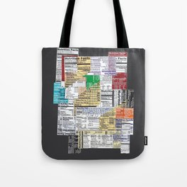 Nutrition Facts 4 Tote Bag