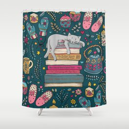 How to Hygge Like a Cat Shower Curtain