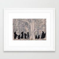 lotr Framed Art Prints featuring On the way (The Fellowship of the Ring, LOTR) by Blanca MonQnill Sole