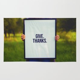 Give Thanks Sign (Color) Rug