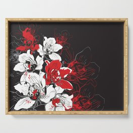 Rouge et Noir Serving Tray