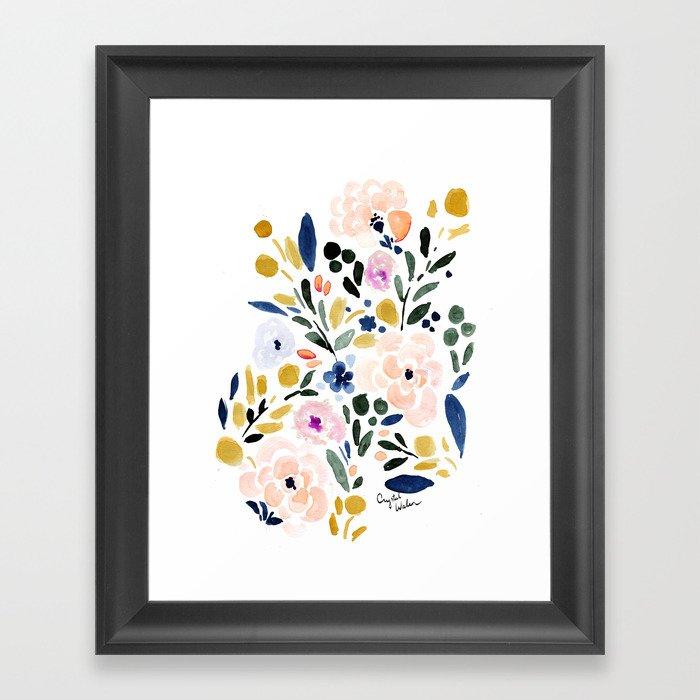 Sierra Floral Gerahmter Kunstdruck