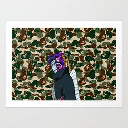 Bape Camo kisame Art Print