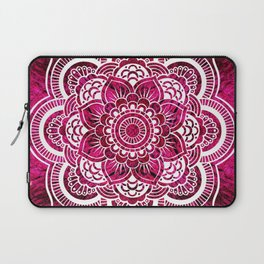 Mandala Hot Pink Colorburst Laptop Sleeve