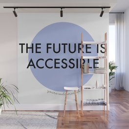 The Future is Accessible - Blue Wall Mural
