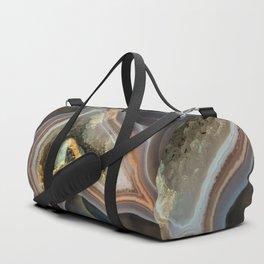 Patterns of agate gem Duffle Bag